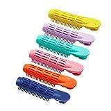 Pinza para dar volumen a la raíz del cabello, pinza para rizador de pelo con volumen de raíz de agarre automático, herramienta para peinar el cabello rizado naturalmente esponjoso (6 colores)