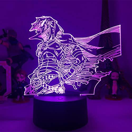 Anime Gurren Lagann Simon LED noche luz para dormitorio decoración noche lámpara Tengen Toppa Gurren Lagann regalo acrílico neón lámpara 3D