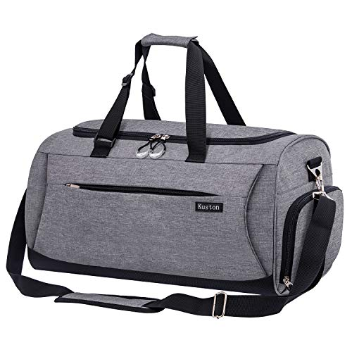 Kuston Sports Gym Bag with Shoes Compartment &Wet Pocket Gym...