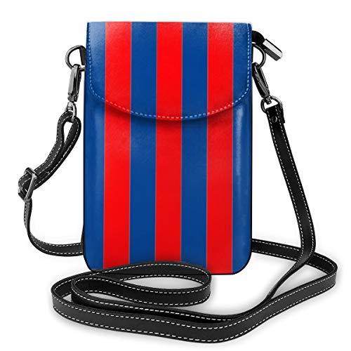 Goxegag Cartera multifuncional de piel para teléfono móvil, bolso de hombro pequeño, bolso de viaje con correa ajustable para mujer, diseño de rayas Barcelona