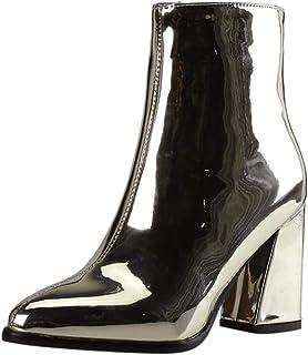 Botas de mujer,botas de cuero mujer,ZARLLE Espejo Charol Tacon Boots Altas,Zapatos de mujer de moda Botines de fiesta,Bota...