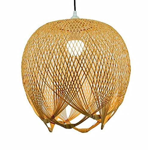 Tissage créatif en bambou pendentif lumière abat-jour en bambou plafonnier lustre plafonnier pour salle à manger, restaurant, chambre à coucher, café, bar