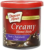 Duncan Hines Creamy Home-Style Frosting, Dark Chocolate Fudge, 16 Ounce