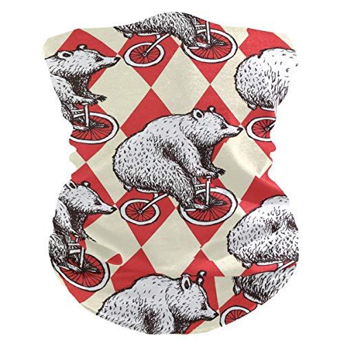 Diadema de oso con diseño de animales, cara geométrica, protección solar UV, máscara de cuello, bufanda mágica, bandana para la cabeza, pasamontañas para mujeres y hombres