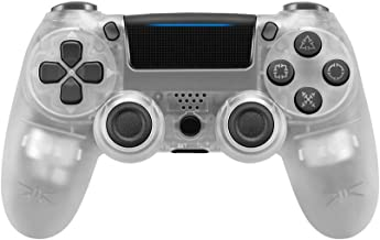 Game Controller for PS4,Wireless Controller for Playstation 4 with Dual Vibration Game Joystick (Tran-White)
