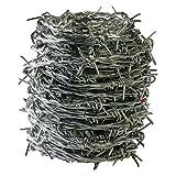 ダイドーハント (DAIDOHANT) ( 有刺鉄線 ) バーブ [ 鉄 ・ 亜鉛メッキ ] [太さ] #16 1.6 mm x [長さ] 20m 付属品: 又釘 (約15本) 55781