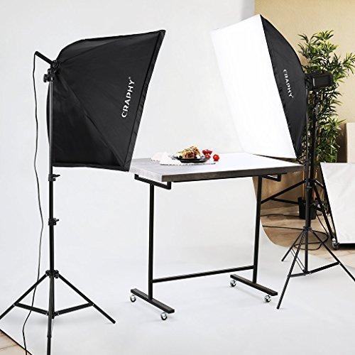 CRAPHY Upgraded 20x28 Photography Lighting Kit Auto Pop-Up Softbox Light Kits 700W 5500K Photography Softbox Light Set Softboxes Continuous Lighting for Photo Studio Portrait Video Shooting...