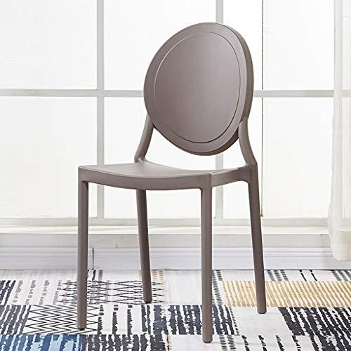 CKH Eetstoel Moderne Minimalistische Plastic Stoel Terug Ronde Terug Volwassen Thee Winkel Thuis Restaurant Kruk