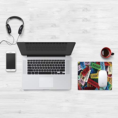 Tappetino per Mouse Gaming (320x250 mm),Love Decor, Collezione Love Word Cloud in Diverse Lingue Francese Giapponese Tutti i lavori artis,Impermeabile, Gomma Antiscivolo, Adatto per Gaming e Ufficio