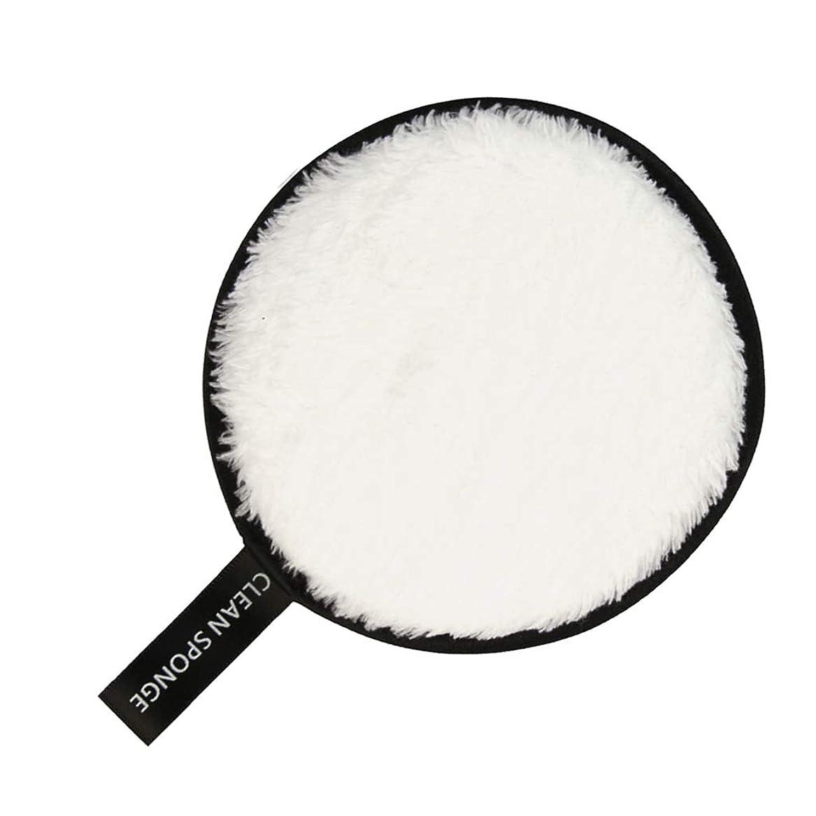 乞食迫害する淡いF Fityle フェイススポンジ クリーニングパフ 再利用可能 化粧落としパッド 全6色 - 白