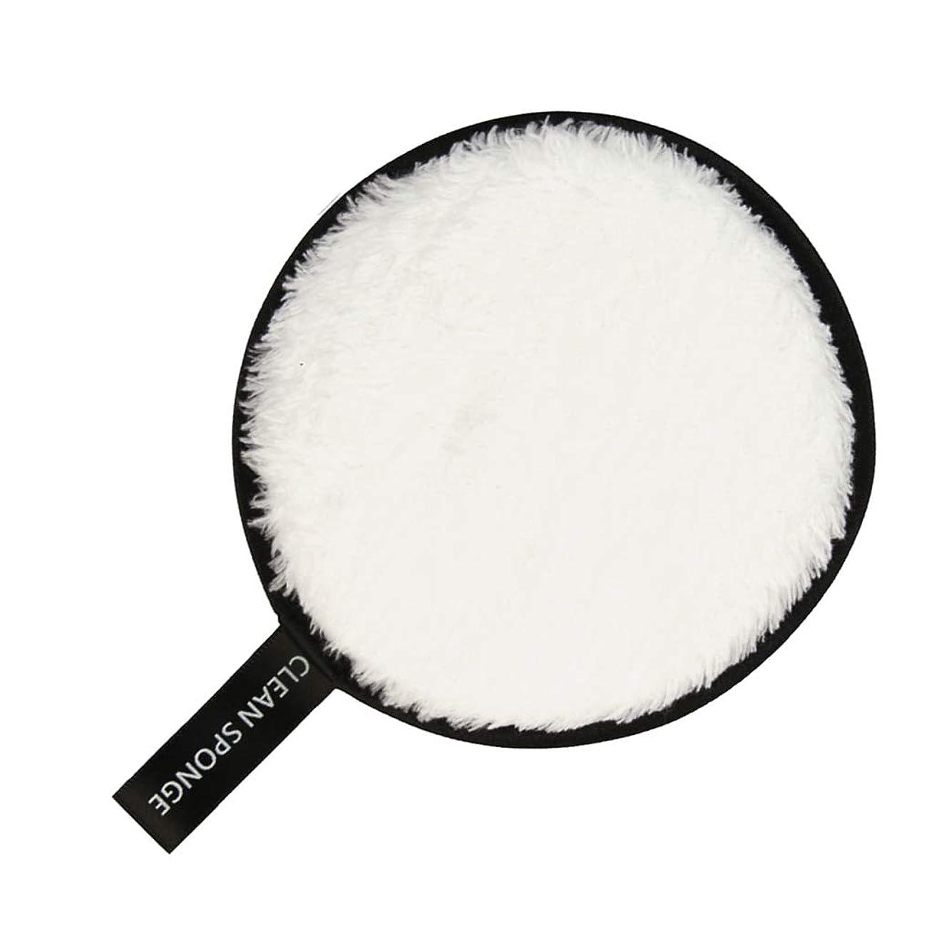 仕方アリーナ発表F Fityle フェイススポンジ クリーニングパフ 再利用可能 化粧落としパッド 全6色 - 白