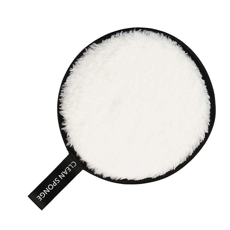 藤色所有者打ち負かすF Fityle フェイススポンジ クリーニングパフ 再利用可能 化粧落としパッド 全6色 - 白