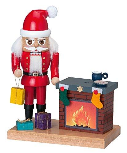 Nussknacker Weihnachtsmann mit rauchenden Kamin BxHxT 17x22x10cm NEU Erzgebirge Nußknacker Weihnachtsfigur