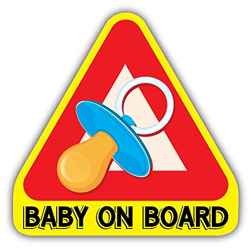 Baby On Board Nipple Funny Warning Sign De Haute Qualite Pare-Chocs Automobiles Autocollant 12 x 12 cm