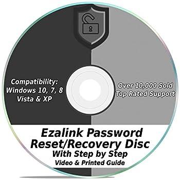 Ezalink Password Reset Recovery Disk for Windows 10 8.1 7 Vista XP #1 Best Unlocker Remove Software CD DVD  For All PC Computers