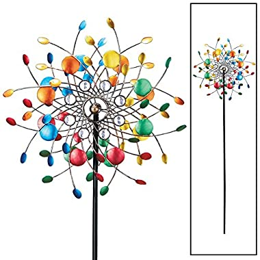 Collections Etc Spinning Kaleidoscope Garden Decor Yard Stake