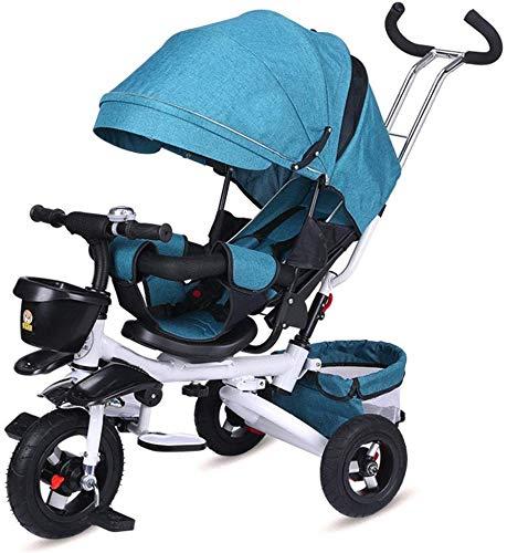 FEE-ZC Impugnatura Rimovibile per Bici Pieghevole Universale per Bambini a Triciclo Sun Canopy di 1-5 Anni di Bicicletta