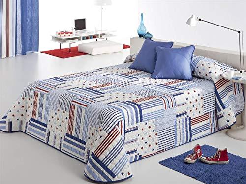 Reig Martí - Colchas Copriletto Patch Reig Martí Azul Cama 90 cm. (190 x 270 cm.)