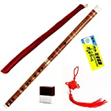 Traditional Handmade Chinese Musical Instrument Bamboo Flute Dizi in D Key 1 Pcs