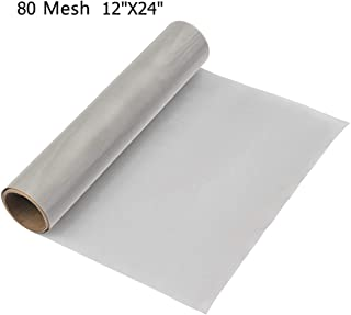 Activists Stainless Steel Woven Wire 80 Mesh Fine Wire Mesh Roll 12