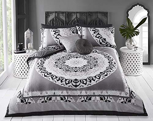 Sleepdown Juego de Cama y Fundas de Almohada Reversibles, algodón, Gris
