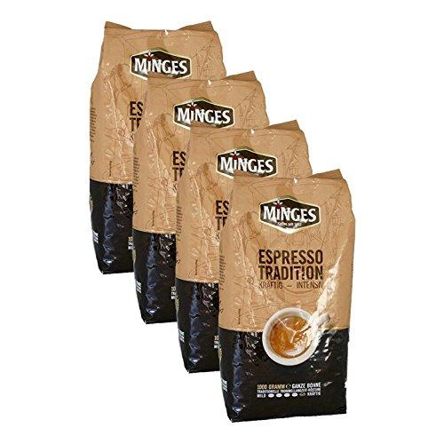 Minges Espresso Tradition 1932, 1000g Bohnen 4er Pack