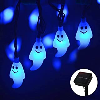 Halloween Ghost String Light, MQ Ghost Fairy String Lights Solar Powered Waterproof 8 Modes 30 LED 21.32ft for Halloween H...