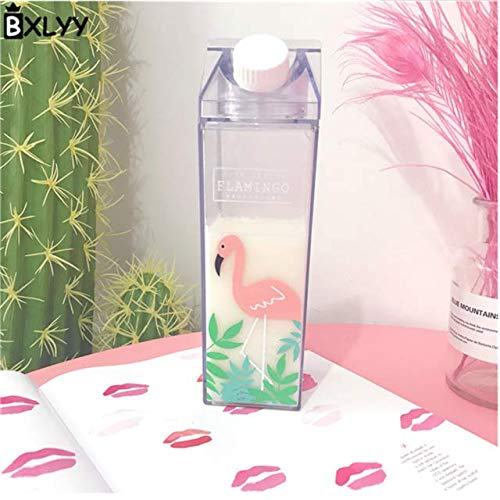 MYSdd Botella de Agua de plástico Transparente Botella de Agua Potable portátil Forma Creativa Botella de Agua Taza de Agua - 8