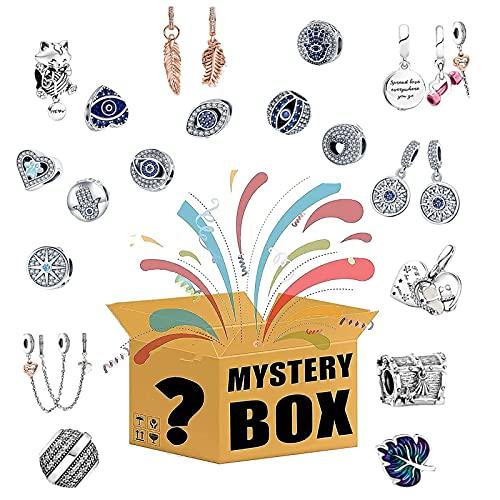RTYUI Blind Box Lucky Box Jewelry, Estilo Aleatorio, Dale A Tu Novia O Madre Una Sorpresa Varios Tipos De Colgantes, Haz Tu Pulsera para El Tobillo