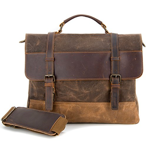 Kopack Waterproof Genuine Leather Laptop Briefcase