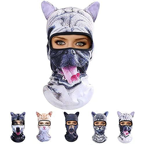 nanxing Masque de chat, chapeau intégral pour l été, oreilles d animaux, casque de sport, casquette de pêche