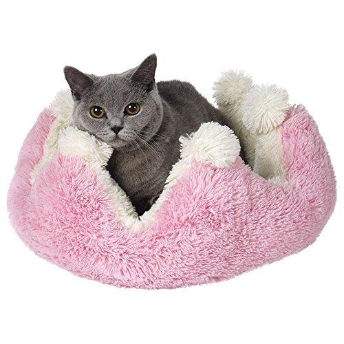 Tommi 01032 Prinzessin Hundebett, rosa/weiß