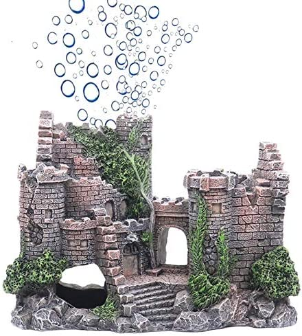 Ulifery Castle Aquarium Decorations Moss Fish Tank Ornaments with Bubbler for Betta Hideout product image