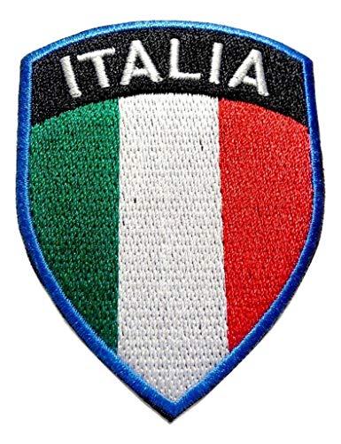 b2see Iron on Bügel Aufnäher Fahne Patches Flicken Aufbügler Bügelbild Applikation Sticker-Ei Flagge Italien 7 x 5,8 cm
