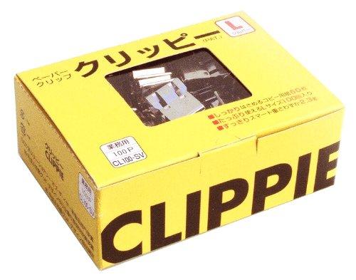 文房堂 ペーパークリップ クリッピー L100 銀 15972