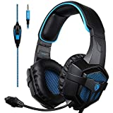 KKmoon SADES 3.5mm Wired Gaming Headphones Over Ear Game Headset with Microphone Volume