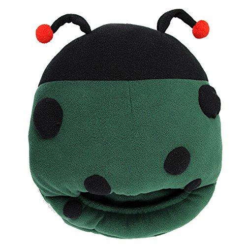 Seadream Unisex Mehrzweck-Hausschuhe, waschbar, USB Beheizte Hausschuhe, USB Fußwärmer, USB Beheizter Plüsch Pantoffel, Pilow Carton Design Grün - Beetle Green