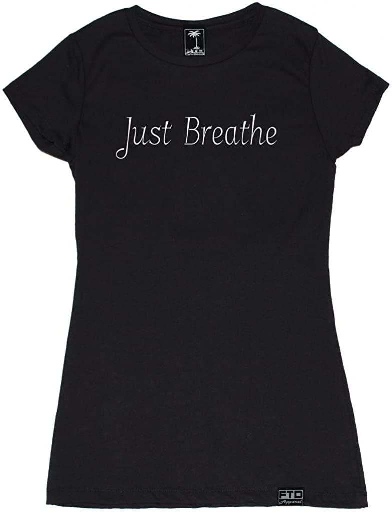 Casual   Crop Top T-Shirt Just Breathe