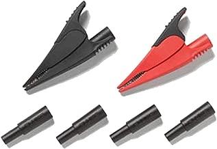 Fluke AC285-FTP Alligator Clips and Adaptors, 1000V Voltage, 10A Current, Red and Black, For FTP-1 or FTPL-1 Fused Test Probes