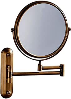Lighted Makeup Mirror LED Illuminating Magnifying Glass Double-Sided Rotating 3 Times Magnifying Adjustable Vanity Mirror for Bathroom