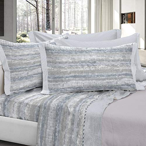 COGAL Flannel Bed Sheet Set - Chamonix - Emotional Pattern, Available in Various Colours, Material 100% Cotton - Made in Italy