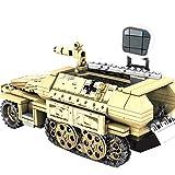DOSGO Militär Panzer Bausteine, 355 Stück Deutschland 50.KFZ.251 Gepanzertes Fahrzeug SWAT WW2 Panzermodell Spielzeug für Kinder Erwachsene Kompatibel mit Lego
