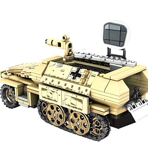 12che Carro Armato Giocattolo, 355 Pezzi Carro Armato Modellino Kit Gioco Puzzle per Bambini e Adulti - Compatibile con Lego - Germany 50.KFZ.251 Armored Vehicle SWAT ww2