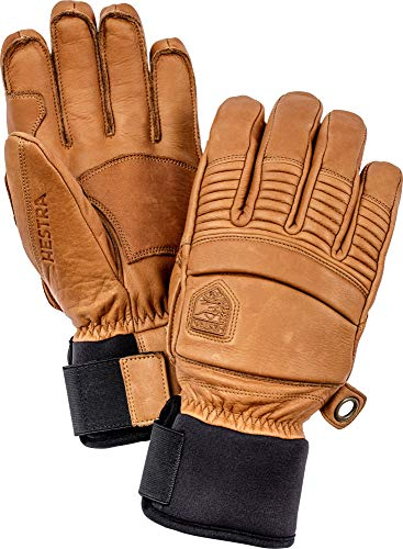 Hestra Leather Fall Line - Short Freeride 5-Finger Snow Glove with Superior Grip for Skiing and Mountaineering - Cork - 9