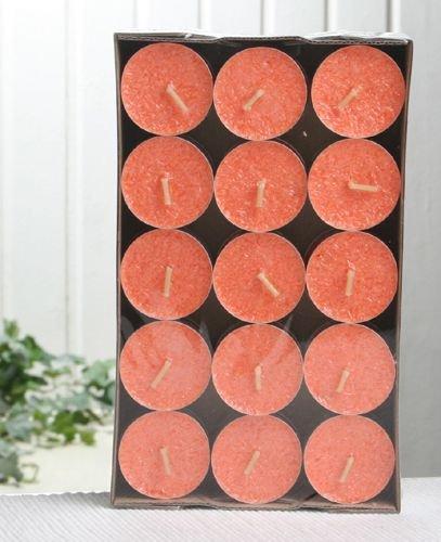 30er-Packung Bio-Teelichter / Stearin-Teelichter, orange