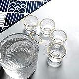 XYSQWZ Set di 6 Pezzi di Sake Tradizionale Giapponese con 1 Bottiglia da Portata di Sake, 1 Refrigeratore per Vino E 4 Tazze di Sake - Inciso A Mano Design