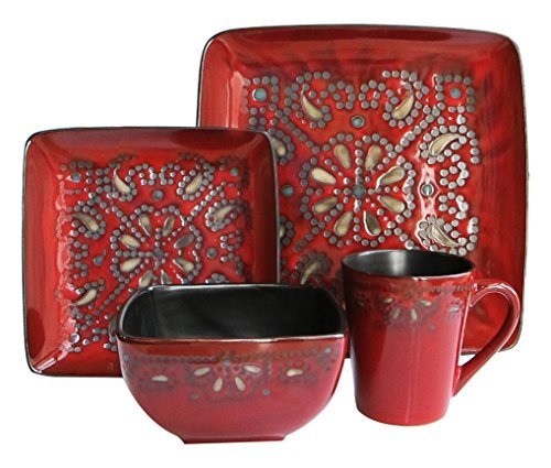 American Atelier Marquee 16-Piece Square Stoneware Set