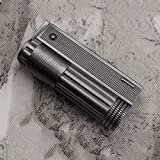 Encendedor de gas, parafina Turbo metal negro encendedor para barbacoa, gas, cigarrillos, velas, cocina, cigarrillos, exteriores, aparatos para hombre