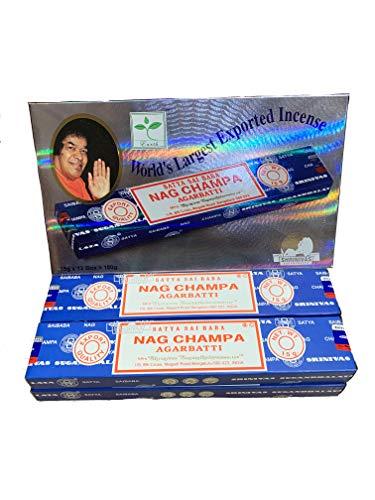 YesMandala Incienso Satya - Nag Champa - 4 Cajas x 15g -