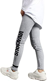 Sponsored Ad - Dreamowl Girls' Leggings, Kids Sports Cotton Stretch Tights Pants, Dance Performance